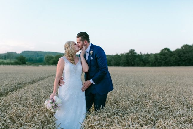 Farbridge Vintage Wedding Cornfield Portrait at Dusk