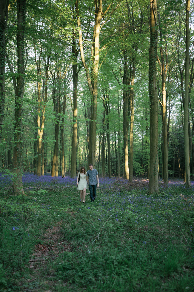 Sussex Bluebell Wood Pre-Wedding Shoot | Sue Kwiatkowska Photography